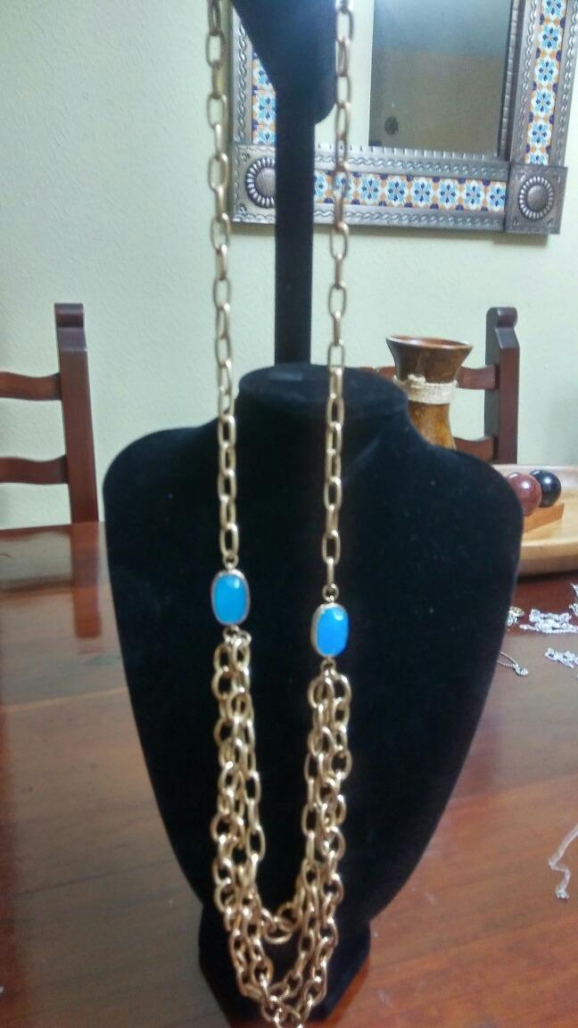 abbe1f223ee6 collar largo con dos cuarzos azules preciosos. Cargando zoom.