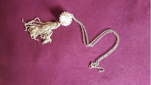 collar largo con perlas.santa tecla