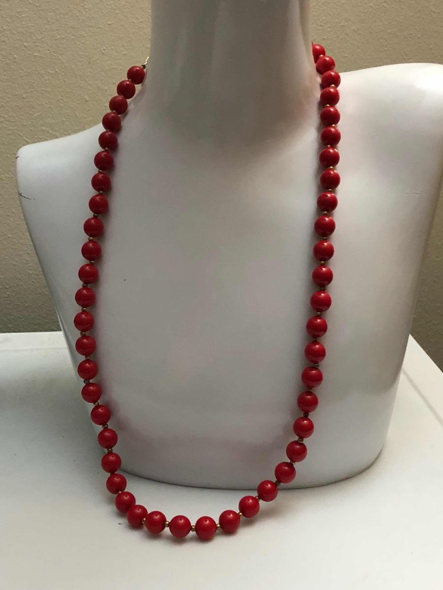 0dff630af212 Collar Largo Cuentas Rojas -   12.900 en Mercado Libre