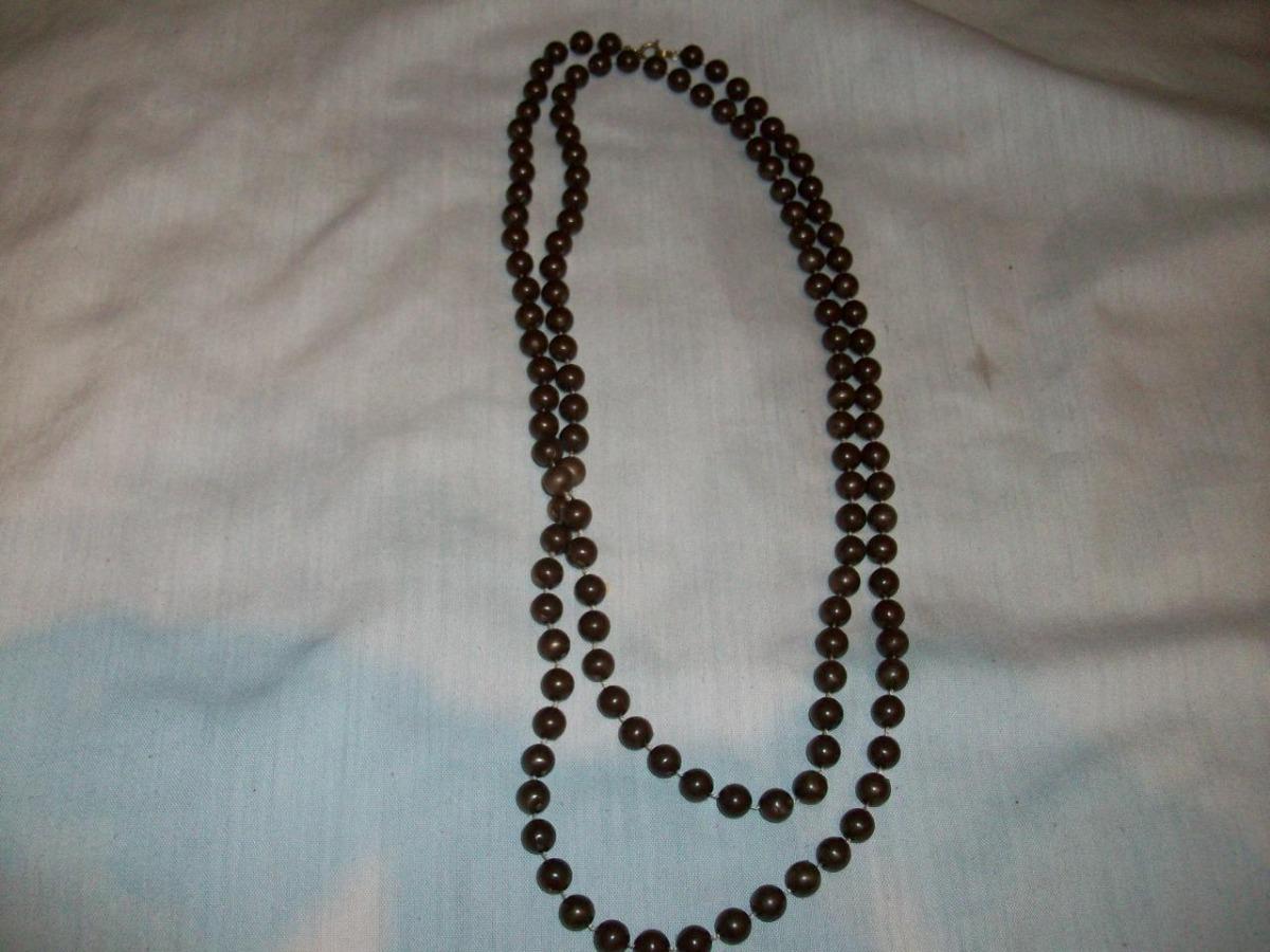 4ab4437baf25 Collar Largo Perlas Hoy Venta Remate Bisutería Importado - Bs ...