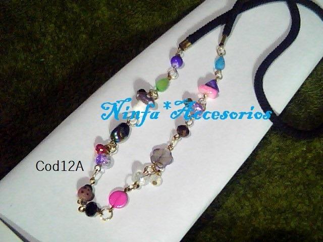 6ab45cd23585 Collar Largocon Cristal Y Piedras Variadas Combo 3 Piezas - Bs. 15.900