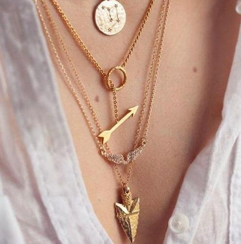 collar layer capas flecha alas amor corazon fashion amor