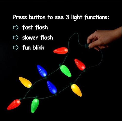 collar led luces navidad 9 bombillas