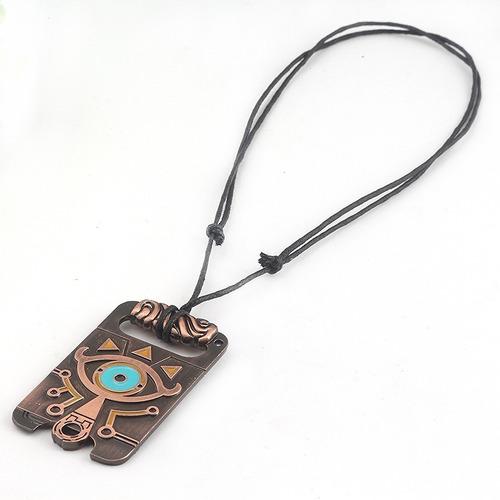 collar legend of zelda sheikah breath of wild acero inox