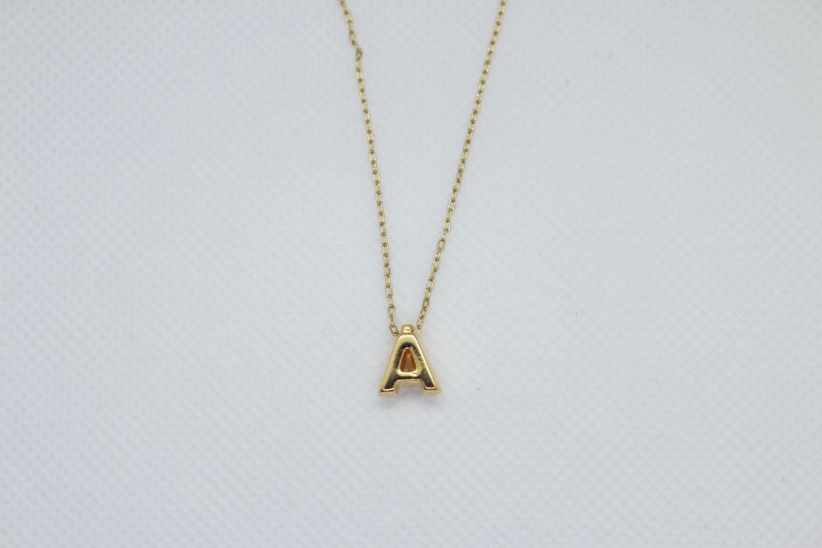 92e88864385d Collar Letra Inicial Chapa -   55.00 en Mercado Libre