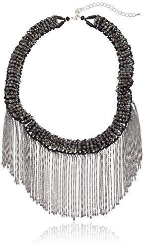 collar llamativo smokey crystal de panacea con collar de fru