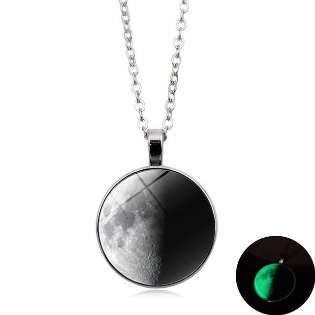 Collar Luna Cuarto Creciente Brilla Oscuridad Amor Con Envió ...