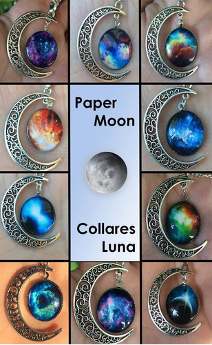 collar luna galaxia - rojo