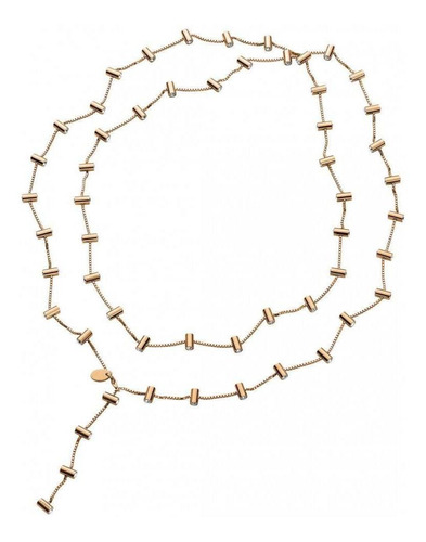 collar lustro necklace rose gold white crystal dorado swatch