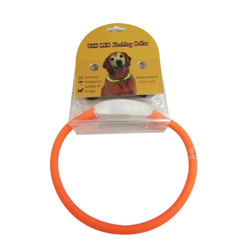 collar luz led usb recargable recortable perros gatos 40 cm