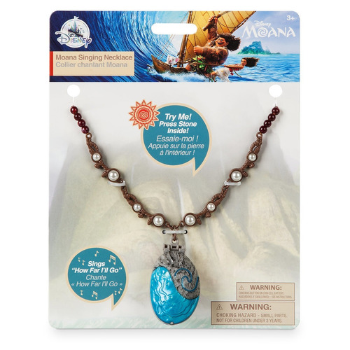 collar mágico disney moana amuleto con música auténtico