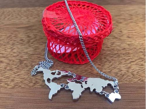 collar mapamundi