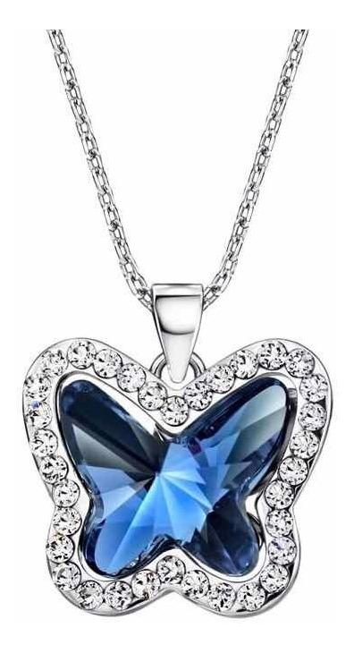 69768c12169c Collar Mariposa Cristales Swarovski Elements + Estuche.