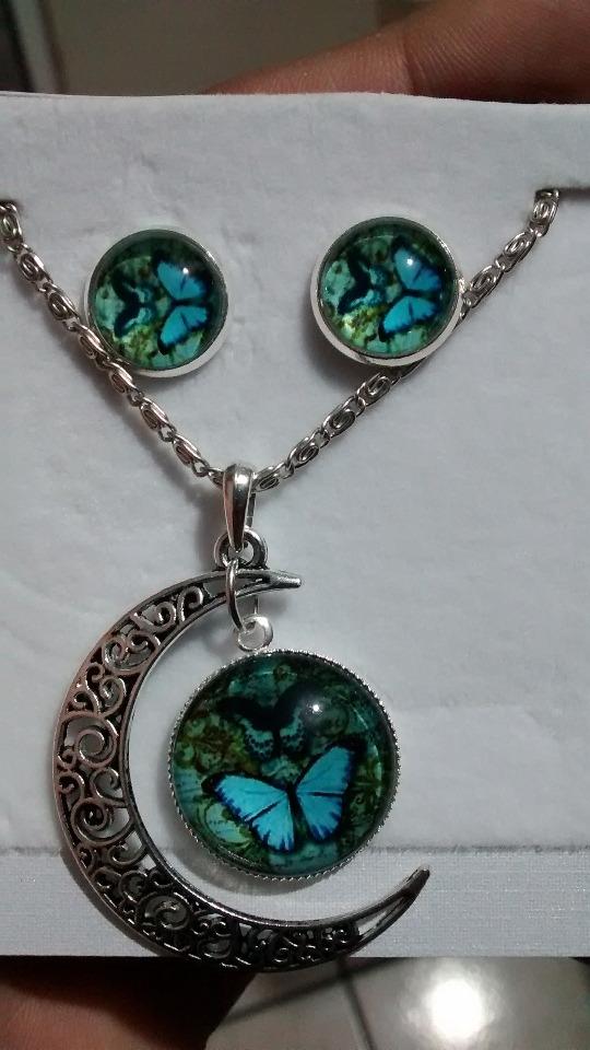 d56001a81053 Collar Mariposas Con Aretes -   230.00 en Mercado Libre