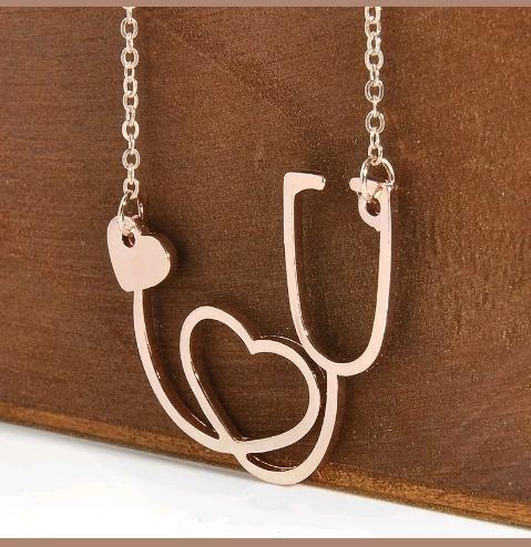 collar medicina estetoscopio kawaii moda cadena medica
