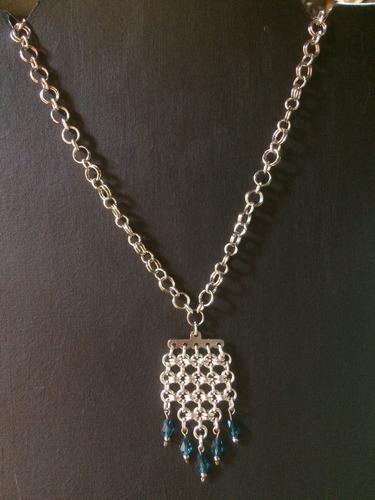 collar  medieval con cristales fascetados - mdr express