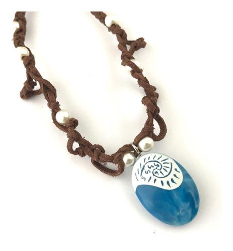 collar moana princesa corazon de tefiti piedra envio gratis