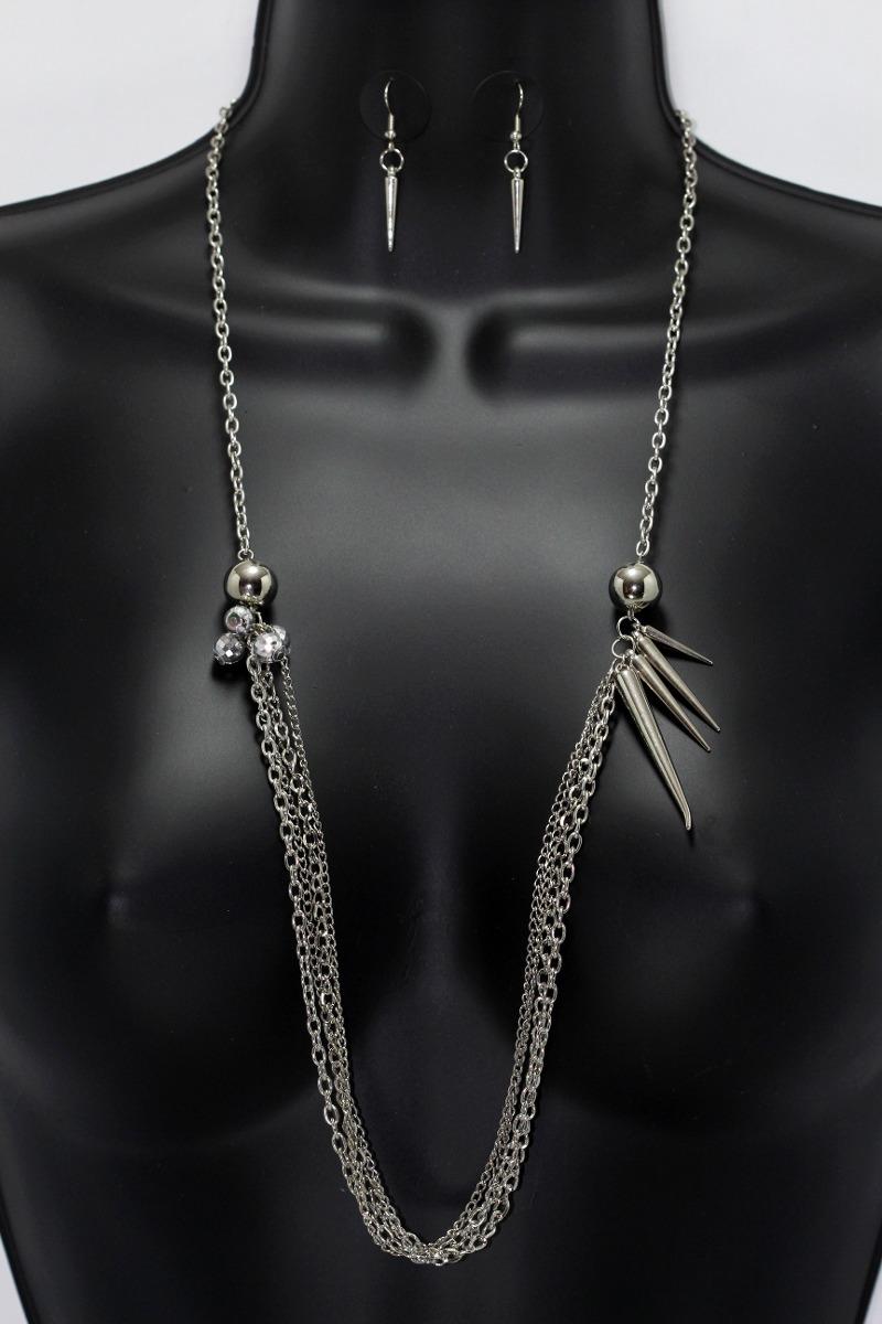 5b59d90bca16 collar moda cadena aretes dama mujer vintage plateado cc321. Cargando zoom.
