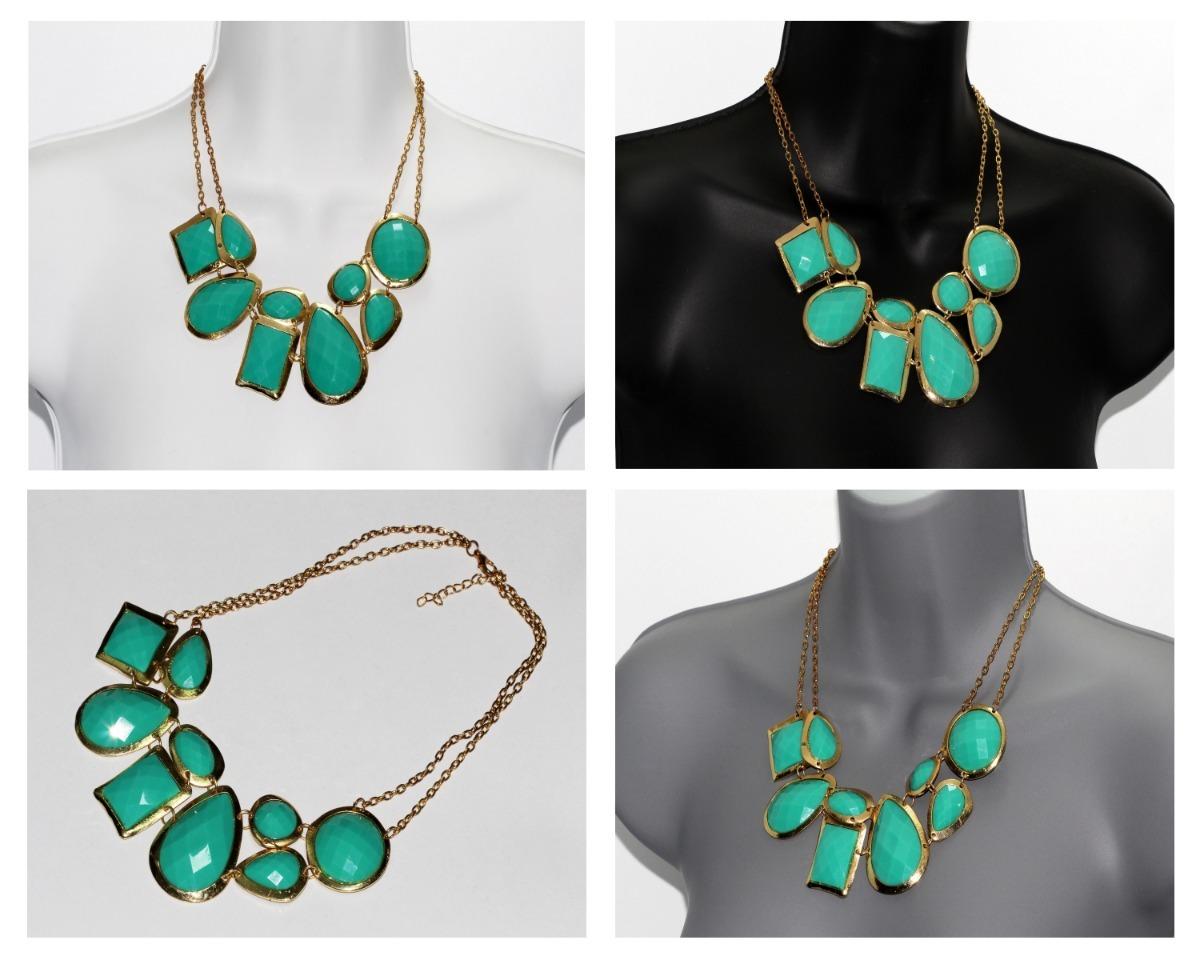 00f83527d0de collar moda dama dorado cuentas verde bisutería casual cc530. Cargando zoom.