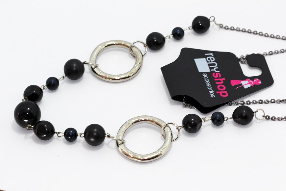 db8b753dd2b0 collar moda dama mujer vintage casual largo negros cc267. Cargando zoom.