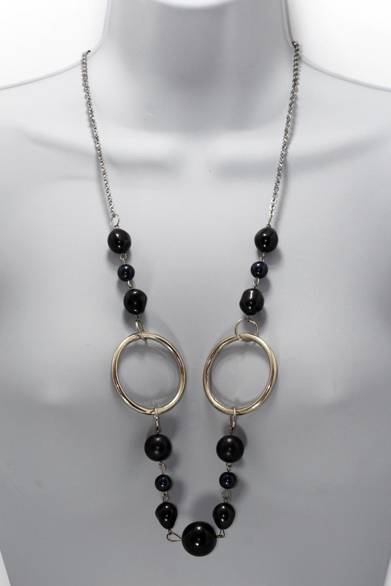 32be24324317 collar moda dama mujer vintage largo adornos negros cc279. Cargando zoom.