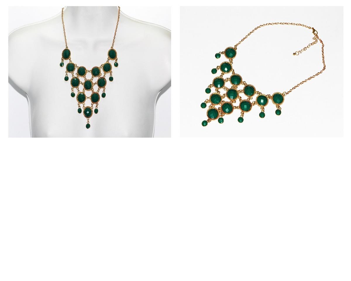 14ae0e2769fc collar moda dorado cuentas verde bandera biseladas cc444. Cargando zoom.