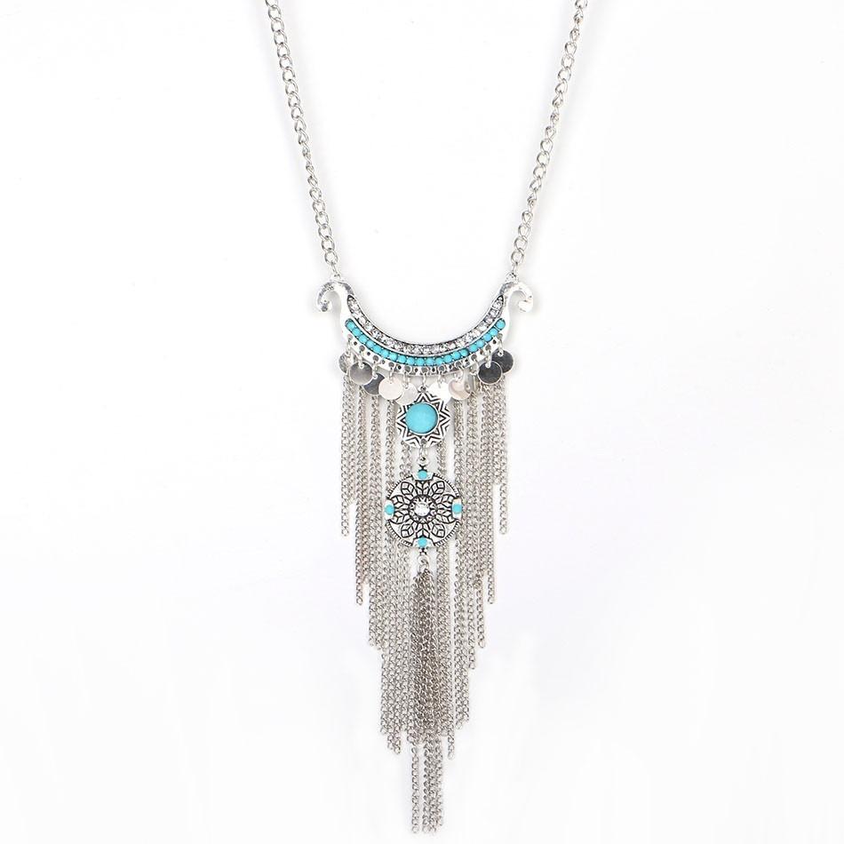 029aeed2ff38 collar moda mujer vintage etnico maxicollar azul bisuteria. Cargando zoom.