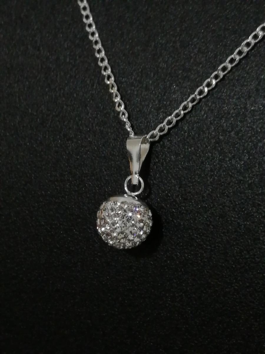 96af0b2de8c8 collar mujer con dije swarovski bola de fuego de plata .925. Cargando zoom.