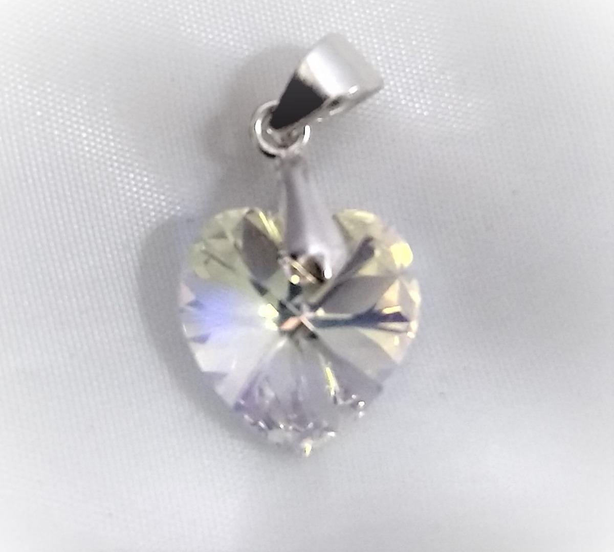 e8a68d5b55d3 collar mujer corazón aurora boreal cristal swarovski. Cargando zoom.
