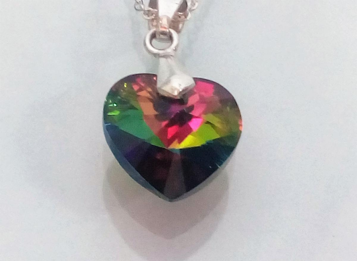 de48ecd7ca3b collar mujer corazón tornasol swarovski en plata 950. Cargando zoom.