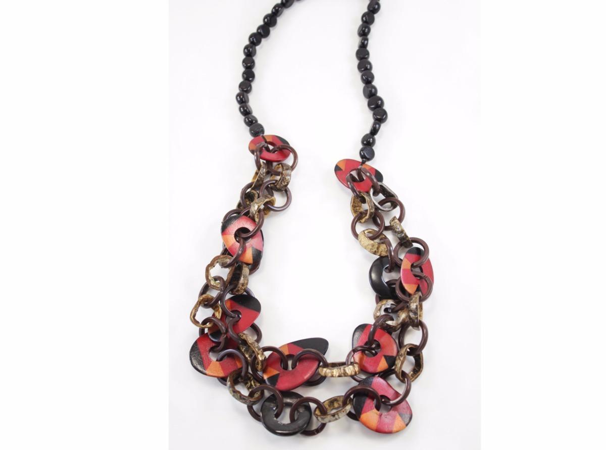 14a9a7717bb0 collar mujer marron circulos irregular accesorios moda. Cargando zoom.
