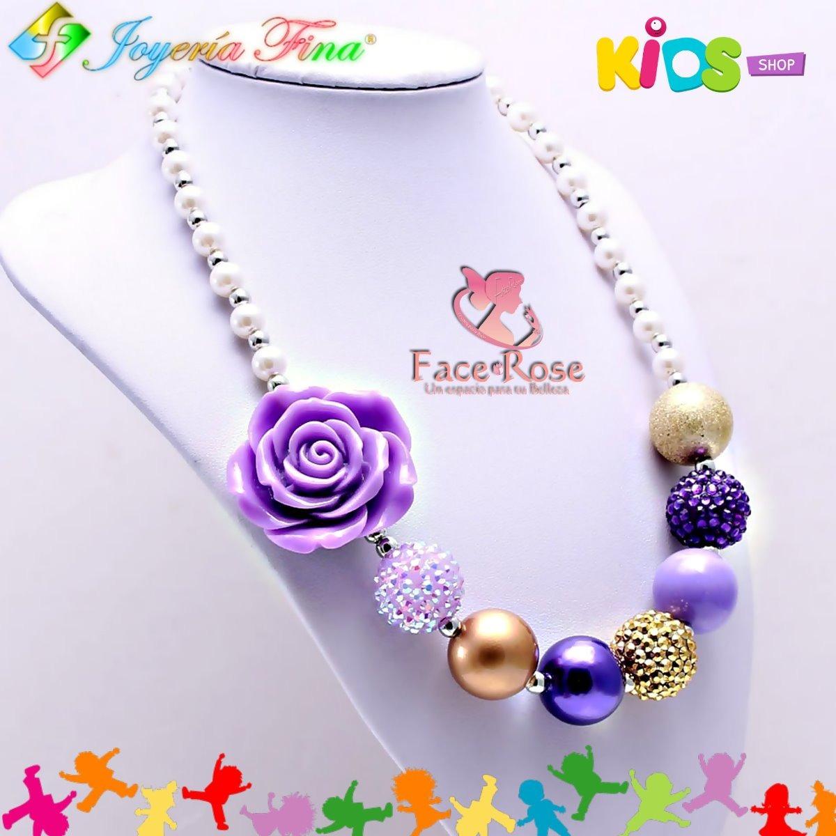 fc7994312960 Collar Niña Alta Calidad Kids Flor Perlas Regalo Mujer -   20.000 en ...