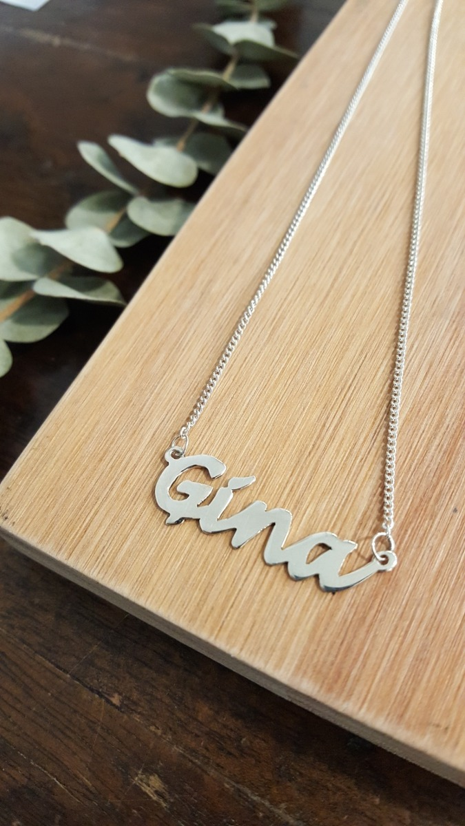 aedccdfcbd0b collar nombre plata 925 con cadena a pedido amor original. Cargando zoom.