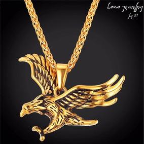 457b5b0d287d Collar Oro Aguila Hombre Mujer Pareja Cadena Dije