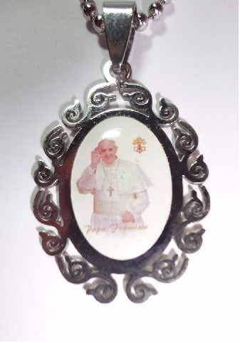 collar papa francisco acero 316