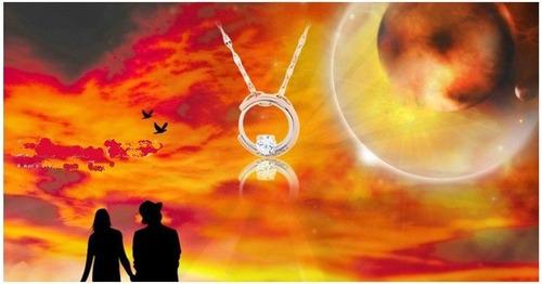 collar para compartir  amantes del sol y la luna