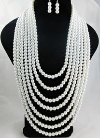 08df97a26d2c Bisuteria Collares De Perlas Blancas - Joyas y Relojes en Mercado ...