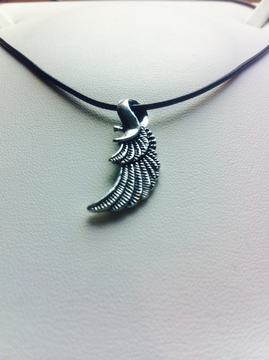 53c5f64bdee4 collar para hombre.collar ala.plata moda hombre.ala ángel. Cargando zoom.