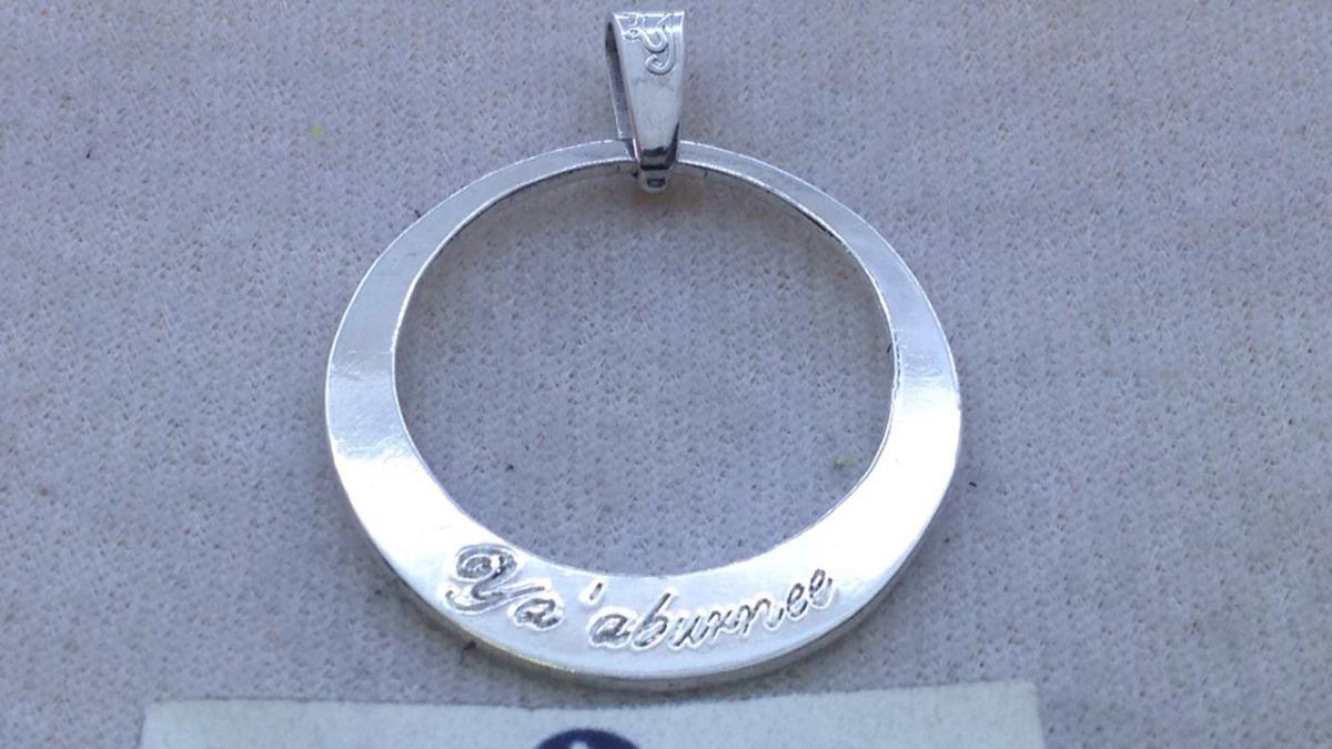 d37ad8d2a205 collar para mamá 1 aro nombre hijo plata 950 cadena+dhl. Cargando zoom.