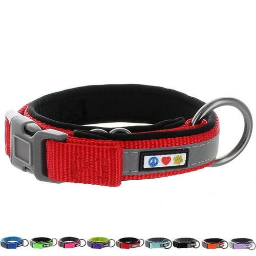 collar pawtitas de mascota rojo xxs extra extra small