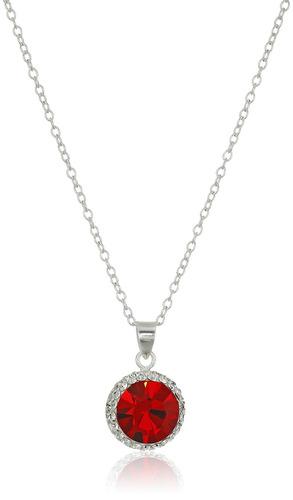 collar pendiente cristalino de birthstone de la piedra preci