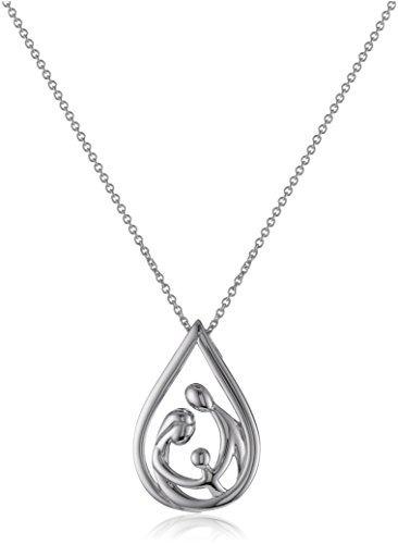 collar pendiente de la gota de la familia de la plata esterl