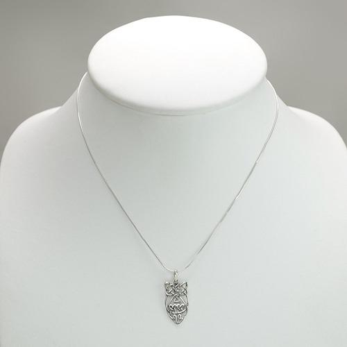 collar pendiente del collar del búho de la sabiduría abstrac