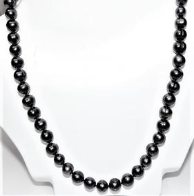 ed33fa966476 Collar Perla Negra Cultivada 7-8 Mm Anudado