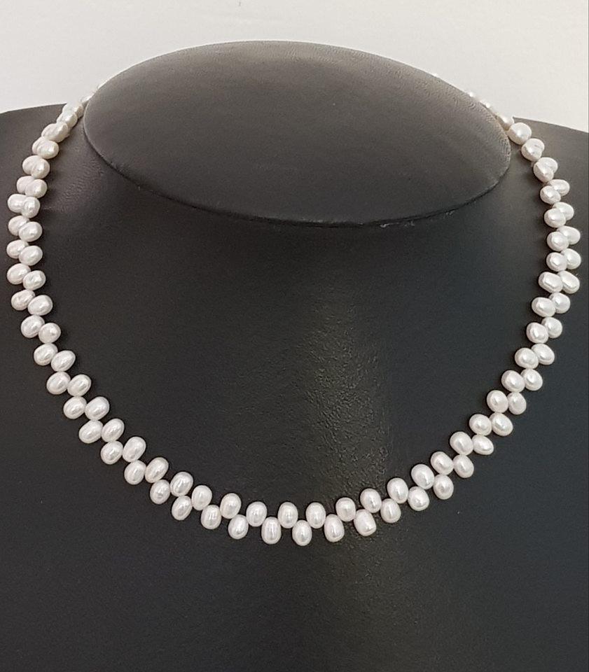fc74677c6f5c collar perlas agua dulce vaiven blanca con cierre en plata. Cargando zoom.