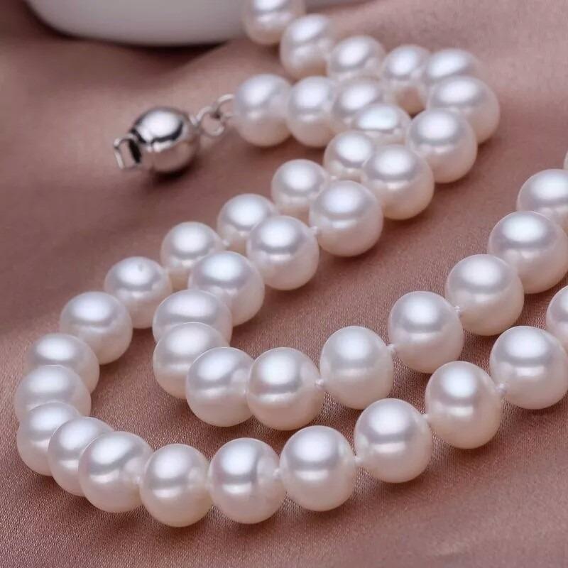 3863544ea862 collar perlas auténticas calidad aaa y aretes regalo estuche. Cargando zoom.