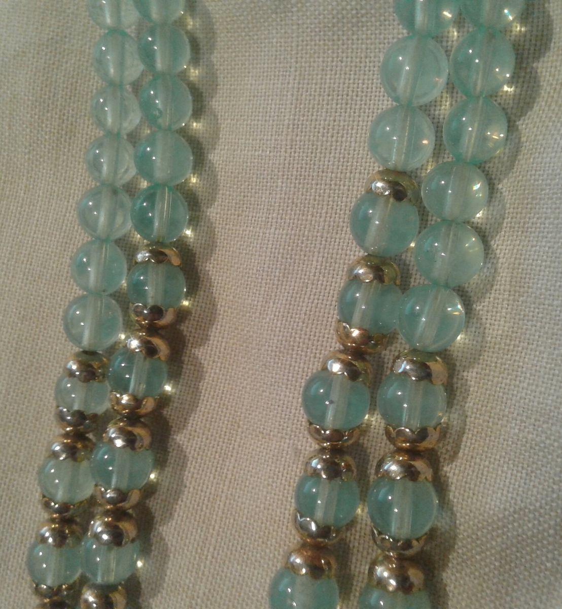 217612393306 collar perlas cristal murano verde jade oro dorado broche. Cargando zoom.