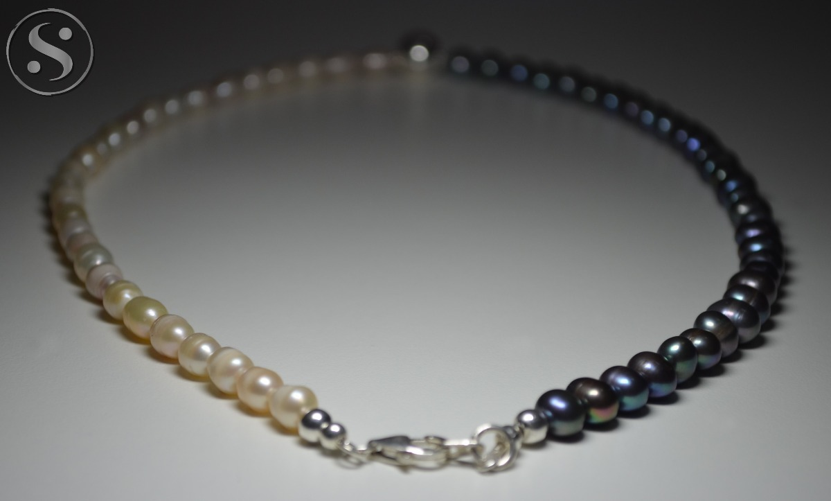 7187868b73ce collar perlas cultivadas bicolor bola plata 925. Cargando zoom.