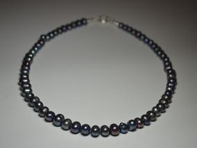 envío complementario en stock 100% de garantía de satisfacción Collar Perlas Cultivadas Negras Tahiti Plata 925