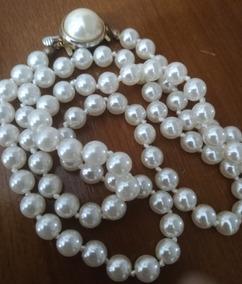 43166b121d48 Collar De Perlas Cultivo Oro Usado en Mercado Libre Uruguay